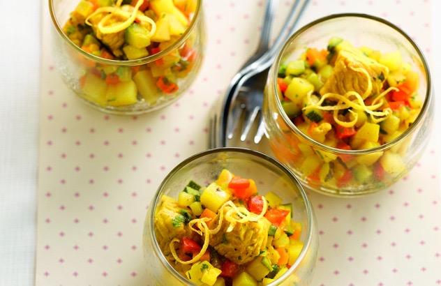Aardappelcouscous met groente en kalkoen