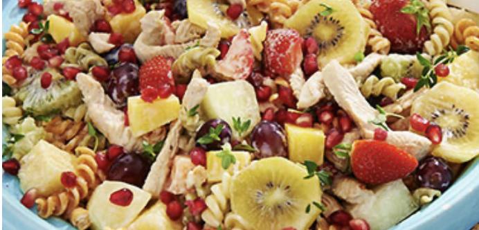 Fruitige maaltijdsalade met kalkoen